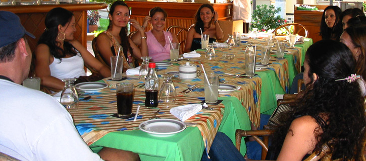 Private romance tour introductions where one man meets many Latinas in small groups