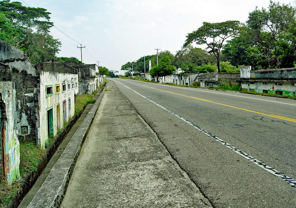 Highway that goes through the destroyed town of Amero