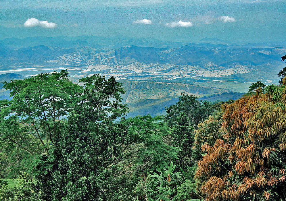 Colombia's Magdalena River Valley looking west from the Andes central mountain range