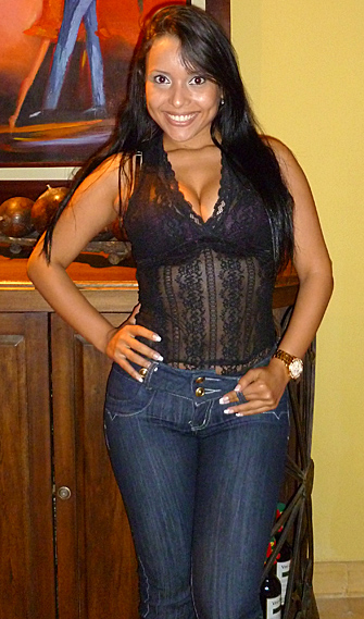 Very attractive Colombian woman smiling