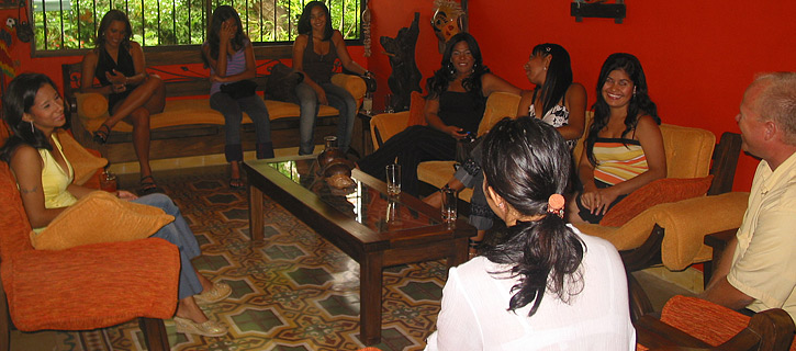 One man meeting nine Colombian women during a private romance tour