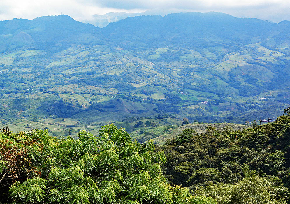 Mountains and farm lands close to Guaduas