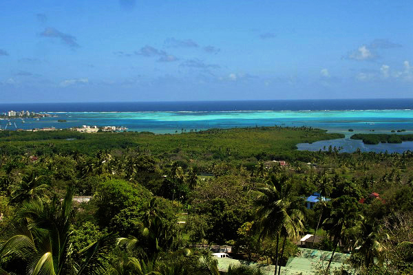 San Andres Island from a hilltop