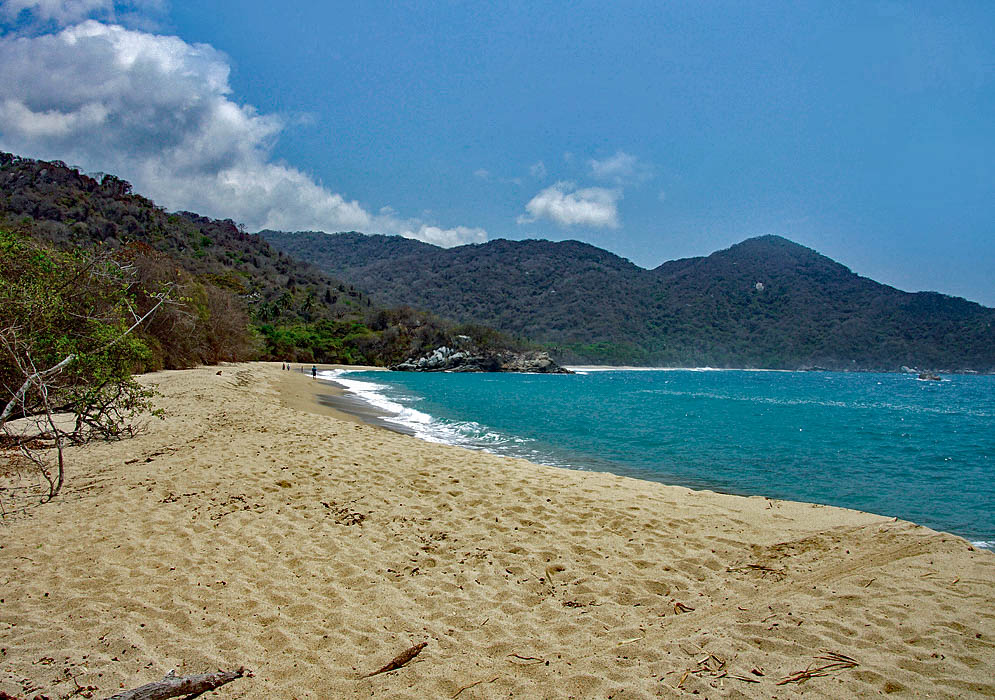 Expansive beach along Tayrona National Park